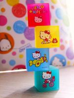 HK Cube Erasers by Kitty-Sprinkles