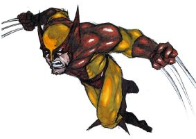 Wolverine charge by Monet88