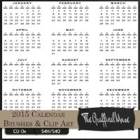 2015 Calendar Free Photoshop Brushes PNG Clip ART  by The-Graffical-Muse