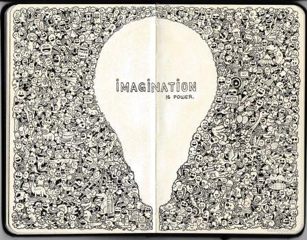 MOLESKINE DOODLES: Imagination is Power by kerbyrosanes