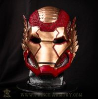 Asgardian Iron Man Helmet Front by Azmal