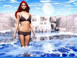 Swimsuit model by rlcwallpapers