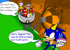 Happy Birthday Sonic and Ivo by Code-E