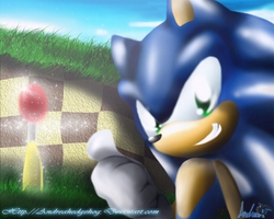 Sonic 3D try by andreahedgehog