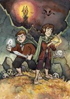 Frodo and Sam by CorinneRoberts