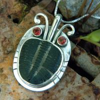 Trilobite Pendant by metalsmitten
