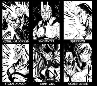 Sketch Cards by Fishcat101 by TheSteampunker