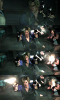 Leon Collage Screencaps RE6 by RenegadeOperative