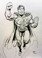 Superman sketch by Simon-Williams-Art