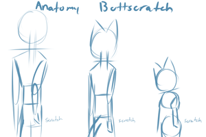 Anatomy buttscratch by JeffreCat