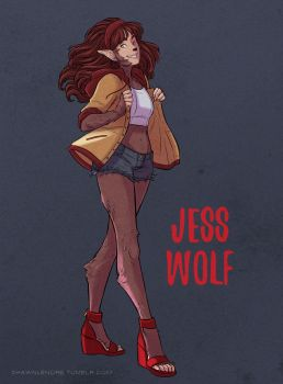 Jess Wolf by misshatter