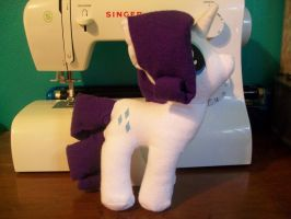 Rarity Plushie (1) by The-Chaos-Controller