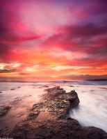 Sunrise at North beach, Wollongong by TahaElraaid