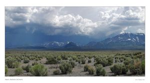 Desert, Mountains and Storm by welder