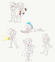 Gravity Falls doodles by 8-Xenon-8