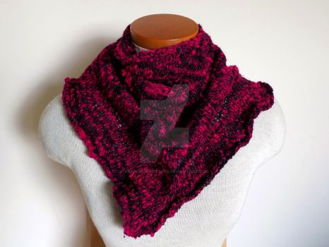 Devilish Ruffled scarf by FearlessFibreArts