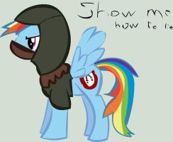 Dark brotherhoof Dashie by Nameleslight