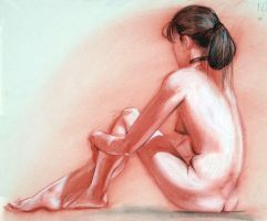 Life Drawing - Phantom Female by umetnica