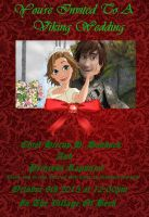 Hiccup Haddock And Rapunzel's Wedding Invitation by DarkMousyxKagome