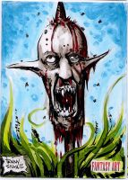 Head on a pike sketch card by dsilvabarred