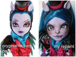 Monster High Avea before and after by kamarza