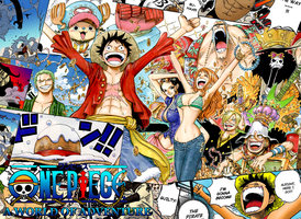 One piece wallpaper-New age by Pop-green
