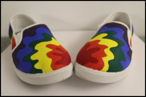 Painted Day of Silence Shoes - 2 by Karen73
