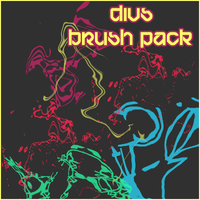 abstract shape brushes by Drugi