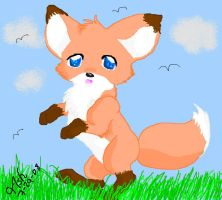 MS Paint Fox by SasoriDanna94