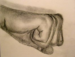 Clenched hand by Ultimaodin