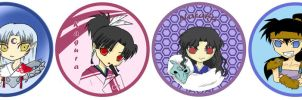 Inuyasha Buttons by r3nisa