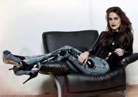 Keira Knightley latex fake 019 black lipstick by ElisabetaM