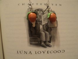 Luna Lovegood's Dirigible Plum Earrings by AquariusStar82