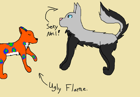 Neil and Flame by LittleOrca20
