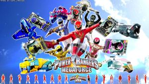 Power Rangers Megaforce Wallpaper by egallardo26