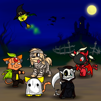 Zero and Friends Halloween by Zerochan923600