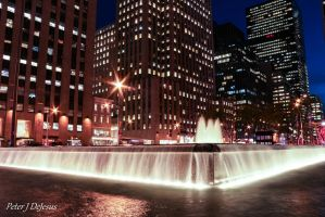 Midtown Waterfalls by peterjdejesus