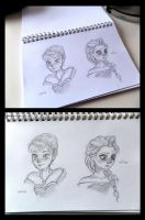 Frozen - sketches by lalocaven