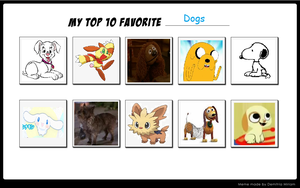 My Top 10 Favorite Dogs by DrawingStar12
