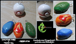 Evolution Stones and Premier Ball Charms by Shendijiro