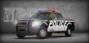 F150 Police Digital Painting by NPCS-1992