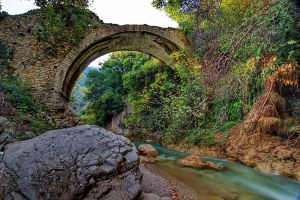 Stone bridge over river Neda by Kounelli1