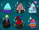 Goopy Ghosts Egg Auctions (CLOSED) by JashJash