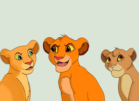 Nala, Simba and Tama by salem20