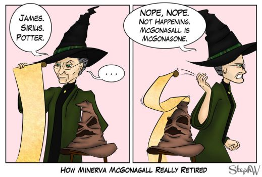 How Minerva McGonagall really retired by StephWSM