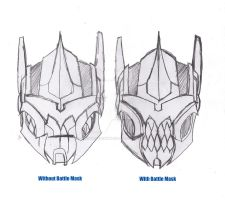 TF: Prime Grimlock Head Sketch by ConstantM0tion