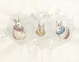 Rabbits in Ruffs by Lamorien