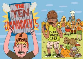The Ten Commandments of Summer by Teagle