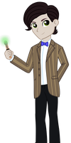 Equestria Boys: 11th Doctor (Vector) by Neutron-Quasar