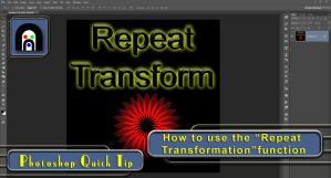Photoshop Tutorial: Repeat Transformation Function by Abasyyx